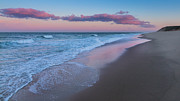 Beach Scenery Prints - Sunset Water Print by Bill  Wakeley