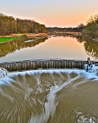 Realistic Photo Prints - Sunset Waterfall Print by Robert Harmon