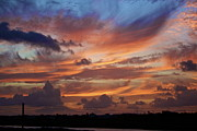 Jennifer Lamanca Kaufman Prints - Sunset with feathers in the sky Print by Jennifer Lamanca Kaufman