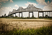 Sunshine Louisiana Framed Prints - Sunshine Bridge Mississippi Bridge Framed Print by Ray Devlin
