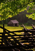 Gatlinburg Tennessee Prints - Sunshine Cabin Print by Sheena Koontz