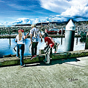 Minor Hockey Digital Art - Sunshine Coast Dock Hockey  by Elizabeth Urlacher