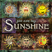 Sunshine Digital Art Posters - Sunshine Poster by Evie Cook