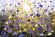 Jolina Anthony Prints - Sunshine On Poppifield Print by Jolina Anthony