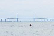 Florida Bridge Digital Art - Sunshine Skyway Bridge by Bill Cannon
