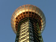 Tennessee Landmark Prints - Sunsphere Print by Keith McGill