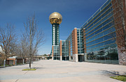 Tennessee Landmark Prints - Sunsphere Knoxville TN Print by Ules Barnwell