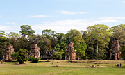 Angkor Thom Prints - Suor Prat Towers 01 Print by Rick Piper Photography