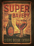 Beer Bottle Posters - Super Bavery Poster by Odd Jeppesen