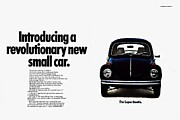 Vw Beetle Framed Prints - Super Beetle Framed Print by Benjamin Yeager