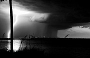 Lightning Photography Photos - Super Cell over Tampa Bay by David Lee Thompson