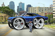 Impala Posters - Super Duper Big Wheels Poster by Mike McGlothlen