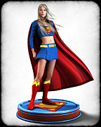 Frederico Borges Digital Art Prints - Super Girl v1 Print by Frederico Borges