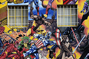 Super Heroes Framed Prints - Super Heroes Albuquerque New Mexico Framed Print by Bob Christopher