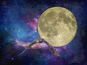 Sandi Oreilly Art - Super Moon Abstract by Sandi OReilly