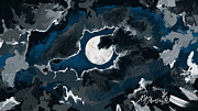 Moonscape Digital Art Prints - Super Moon Print by Amanda Johnson