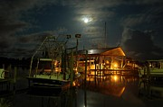 Shrimp Boat Originals - Super Moon at Nelsons by Michael Thomas