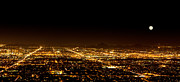 Overlook Photos - Super Moon over Phoenix Arizona  by Susan  Schmitz