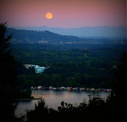 Super Moon River Print by Susan Garren