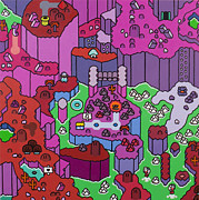 Video Games Painting Originals - Super Mountain World by Ken Kocses