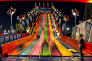Night Photos - Super Slide by Tim Stanley