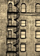 Boston Ma Prints - Super Spirulina Fire Escape Print by Lori-Anne Fay