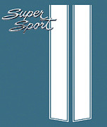 Super Nova Framed Prints - Super Sport Blue Framed Print by Gabe Arroyo
