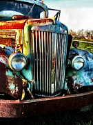 Rusted Cars Art - Super White Power by Julie Dant