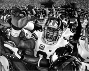 Cities Drawings Originals - Superbowl Celebration by Jerry Winick
