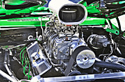 Big Block Chevy Framed Prints - Supercharged Framed Print by Gary Silverstein