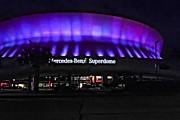 Superdome Night Print by Steve Harrington
