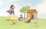 Supergirl Print by Amalou Studio