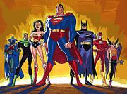 Superheroes Print by Victor Gladkiy
