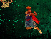 Nba Mixed Media Posters - Superman Poster by Brian Reaves