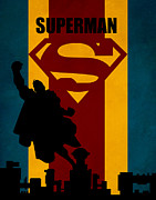 Green Lantern Posters - Superman Poster by FHTdesigns