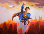Krypton Framed Prints - Superman Framed Print by Paul Mitchell