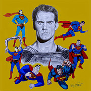Kent Drawings Framed Prints - Superman Framed Print by Stephen Rea