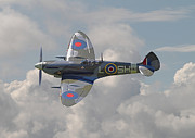 Fighter Digital Art Prints - Supermarine Spitfire Print by Pat Speirs