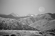 James BO  Insogna - Supermoon Over Colorado Rocky Mountains BW