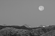 James BO  Insogna - Supermoon Over Colorado Rocky Mountains Indian Peaks BW