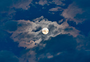 Man-in-the-moon Photo Prints - Supermoon Print by Robert Bales