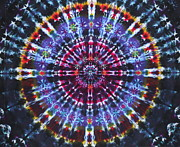 Dye Tapestries - Textiles Prints - Supernova Print by Courtenay Pollock