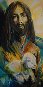 Jesus Art Painting Framed Prints - Supersaver Framed Print by Matt Laseters BZRROindustries
