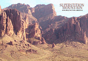 Superstition Art - Superstition Mountain by Cristophers Dream Artistry