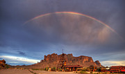 The Superstitions Photos - Superstition Rainbow  by Saija  Lehtonen