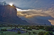 The Superstitions Prints - Superstition Sunrise Print by Brian Lambert
