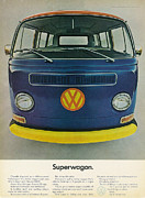 Seventies Posters - Superwagon Poster by Nomad Art And  Design