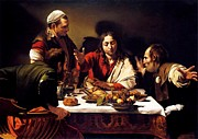 Caravaggio Paintings - Supper at Emmaus by Pg Reproductions