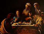 Caravaggio Paintings - Supper in Emaus by Dan Petrov