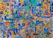 Mechanism Paintings - Supply Chain by Regina Valluzzi